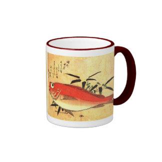 Akodai - Hiroshige's Colorful Japanese Fish Print Coffee Mugs