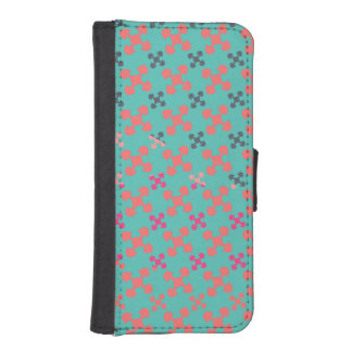 Akoma blue Africa ethnic pattern iPhone SE/5/5s Wallet