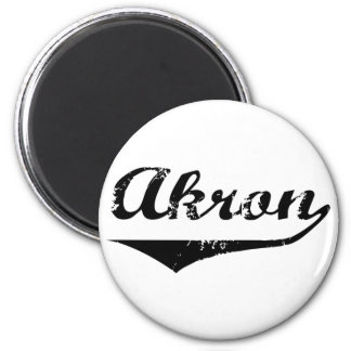 Akron 2 Inch Round Magnet