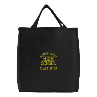 Akron East High School Embroidered Book Tote Bag