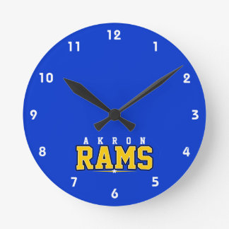Akron High School; Rams Round Clocks