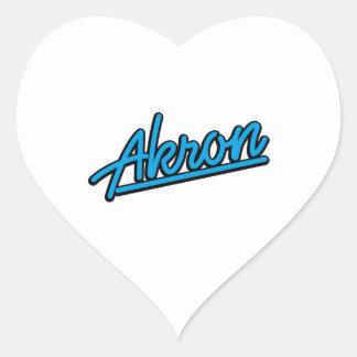 Akron in cyan heart sticker