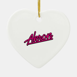 Akron in magenta christmas tree ornaments