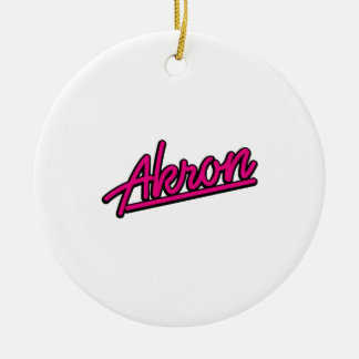 Akron in magenta christmas ornament