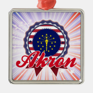 Akron IN Christmas Ornament
