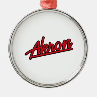 Akron in red ornaments