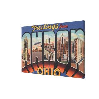 Akron, letra ScenesAkron, OH de OhioLarge Impresión En Lienzo