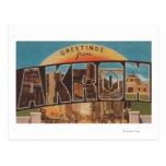 Akron, letra ScenesAkron, OH de OhioLarge Tarjetas Postales