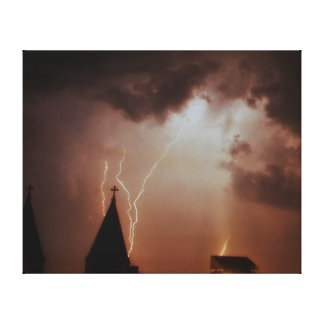 Akron Lightning Canvas Print.