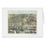 Akron, OH Panoramic Map - 1870 Greeting Card