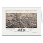 Akron, OH Panoramic Map - 1882 Greeting Card