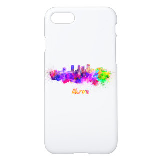 Akron OH skyline in watercolor iPhone 8/7 Case