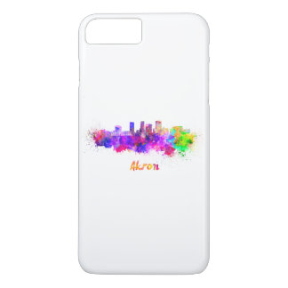 Akron OH skyline in watercolor iPhone 8 Plus/7 Plus Case