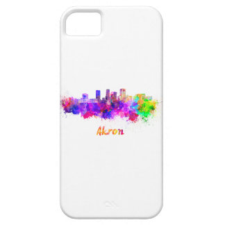 Akron OH skyline in watercolor iPhone SE/5/5s Case