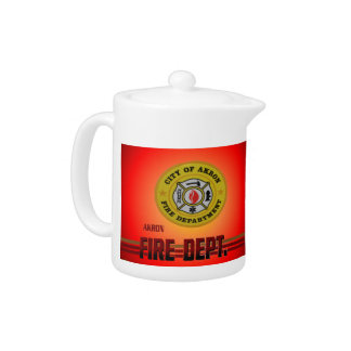 Akron Ohio Fire Department Pitcher. Teapot