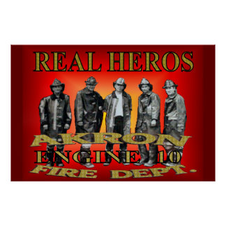 Akron Ohio Fire Department Poster.