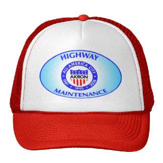Akron Ohio Highway Maintenance Hat.