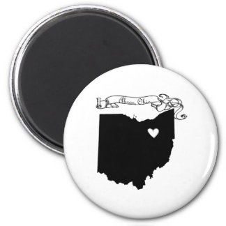 Akron Ohio Imán Redondo 5 Cm