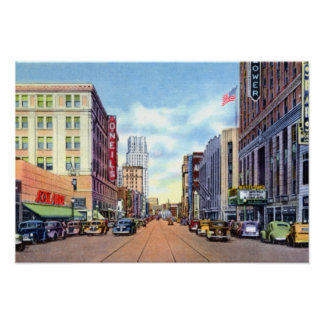 Akron Ohio Main Street in the 40s Posters