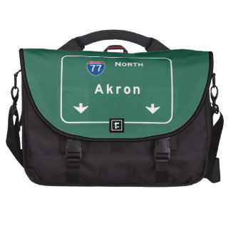 Akron Ohio oh Interstate Highway Freeway : Commuter Bag