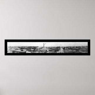 Akron Ohio Photo 1911 Print