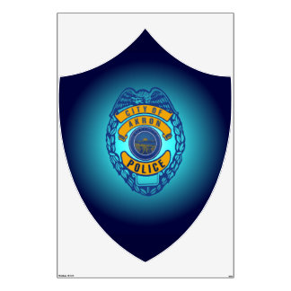 Akron Ohio Police Department Decal. Room Decal