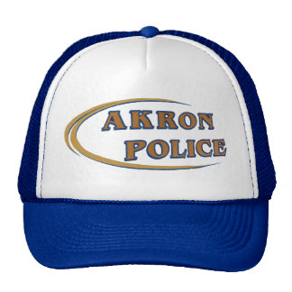 Akron Ohio Police Department Hat. Trucker Hat