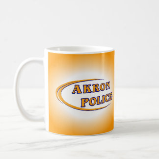 Akron Ohio Police Department Mug. Basic White Mug