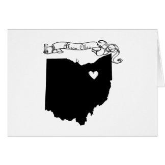 Akron Ohio Tarjeta De Felicitación