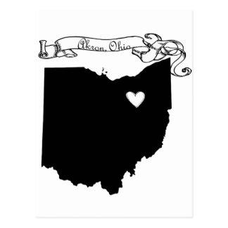Akron Ohio Tarjeta Postal