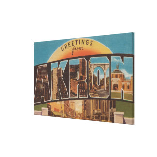 Akron, OhioLarge Letter ScenesAkron, OH 2 Gallery Wrap Canvas