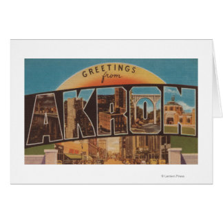 Akron, OhioLarge Letter ScenesAkron, OH Card