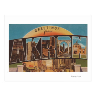 Akron, OhioLarge Letter ScenesAkron, OH Postcard