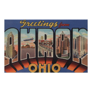 Akron, OhioLarge Letter ScenesAkron, OH Print