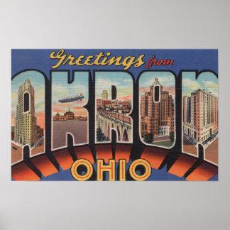 Akron, OhioLarge Letter ScenesAkron, OH Print