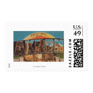 Akron, OhioLarge Letter ScenesAkron, OH Stamp