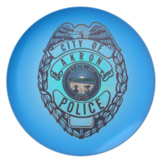 Akron Police Department Plate. Melamine Plate