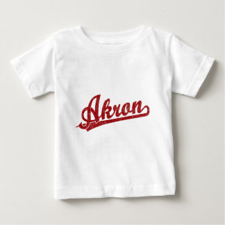 Akron script logo in red baby T-Shirt