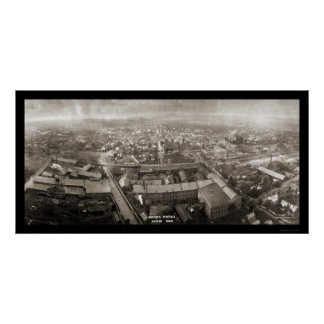 Akron trabaja la foto 1907 de Ohio Póster