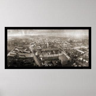 Akron trabaja la foto 1907 de Ohio Posters