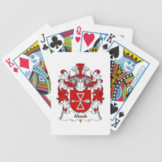 Aksak Family Crest Bicycle Playing Cards