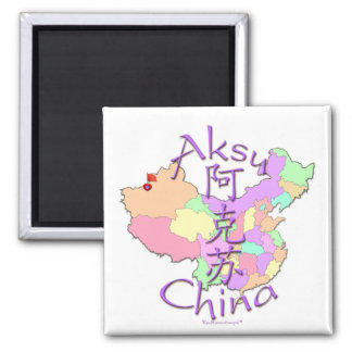Aksu China 2 Inch Square Magnet
