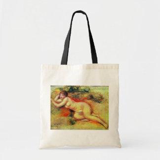 Akt de Pierre-Auguste Renoir (la mejor calidad) Bolsas De Mano
