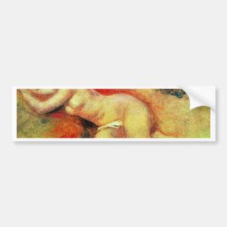 Akt de Pierre-Auguste Renoir (la mejor calidad) Etiqueta De Parachoque
