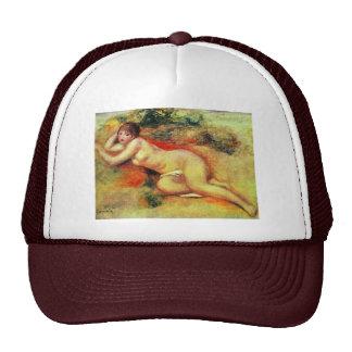 Akt de Pierre-Auguste Renoir (la mejor calidad) Gorros Bordados