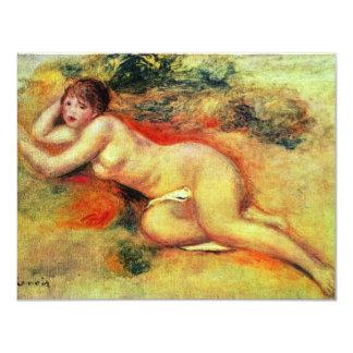 Akt de Pierre-Auguste Renoir (la mejor calidad) Invitación 10,8 X 13,9 Cm