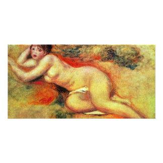 Akt de Pierre-Auguste Renoir (la mejor calidad) Tarjetas Fotográficas Personalizadas