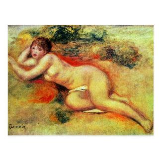 Akt de Pierre-Auguste Renoir (la mejor calidad) Tarjetas Postales