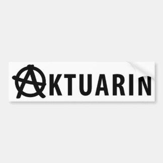 aktuarin icon bumper sticker