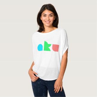 AKU Colour Logo White Flowy Circle Top Female